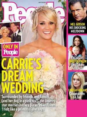 Carrie Underwood wedding photos in People Magazine